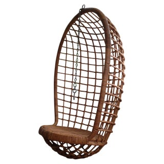 Vintage Hanging Rattan Chair