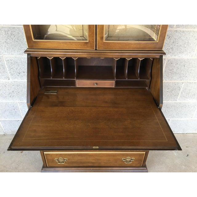Jasper Furniture Lighted Maple Secretary Desk - Image 4 of 11