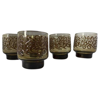 Midcentury Bar Tumblers in Smoke Tones - Set of 5