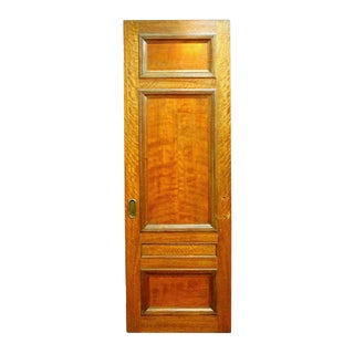3-Panel Mahogany Salvaged Pocket Interior Door