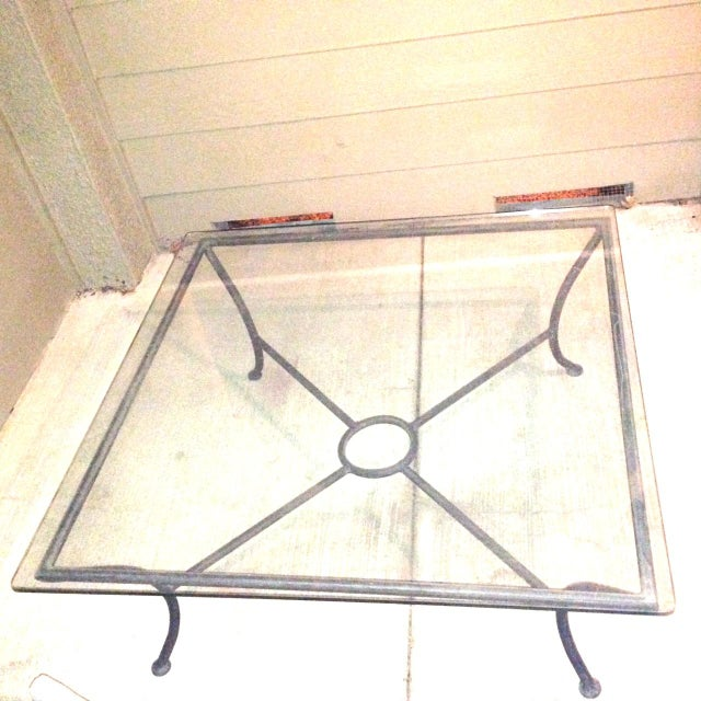 Vintage Crate Barrel Coffee Table W Glass Top Chairish