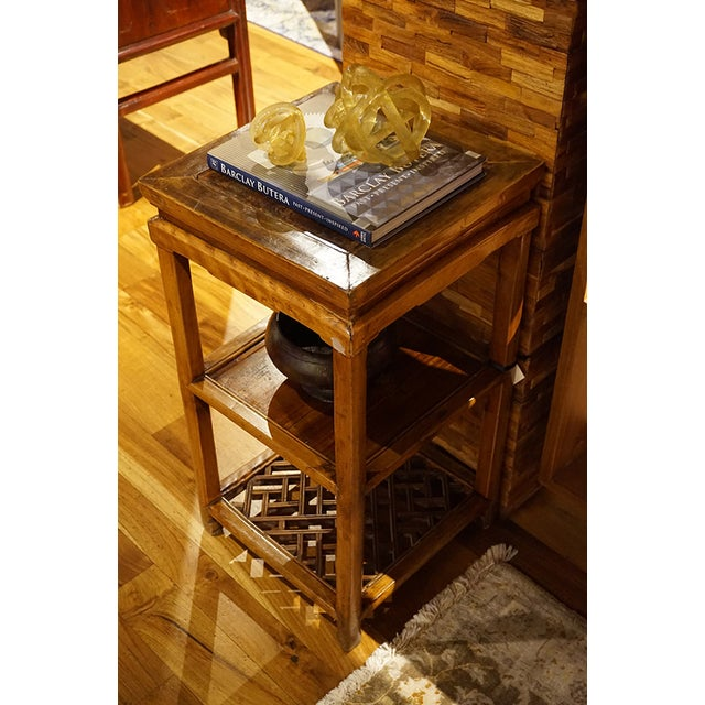 Antique Wood Tea Table - Image 5 of 5