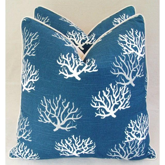 Custom Ocean & Beach Coral Branch Pillows - A Pair - Image 5 of 10