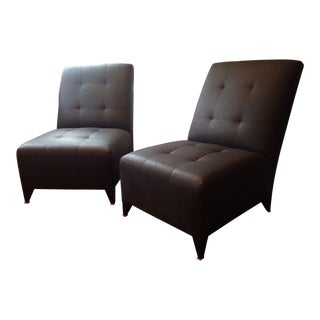 Donghia Eaton Armless Club Chairs - A Pair
