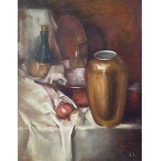 Still Life Oil Painting by Alfred Simonpietri