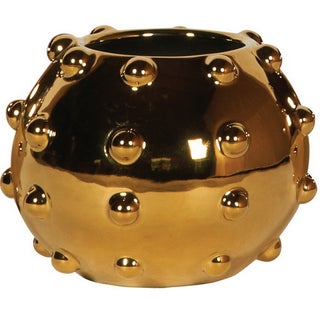 Sunset Gold Studded Vase