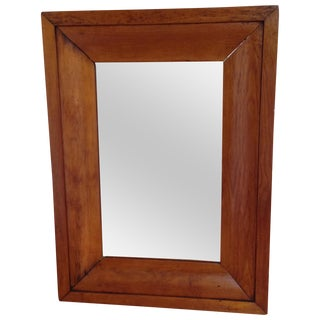 1880s English Honey Pine Mirror