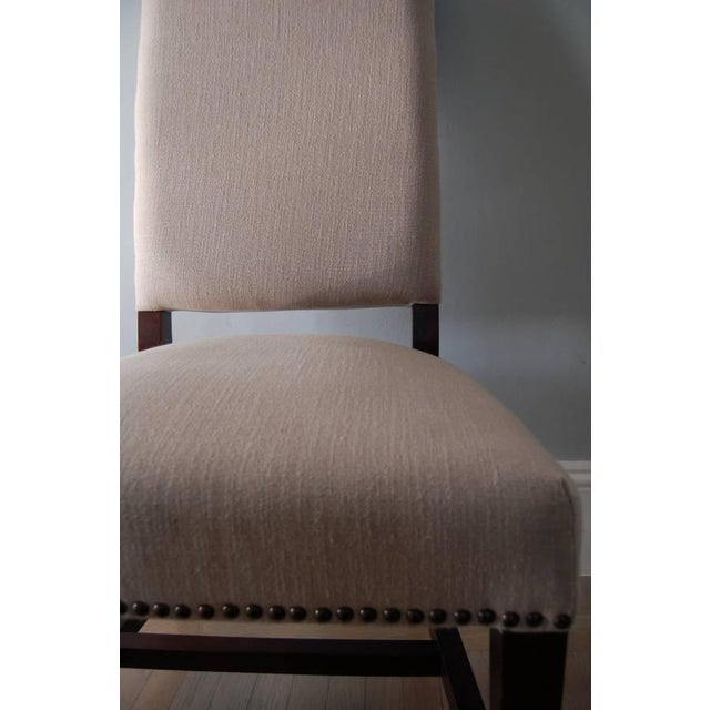 High Back Upholstered Dining Chairs - Pair - Image 5 of 5