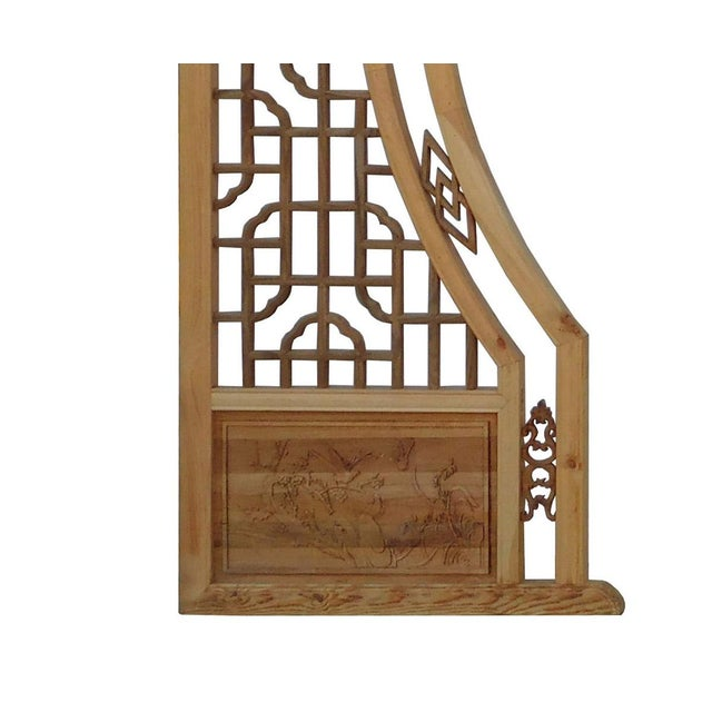 Chinese Arch-Shaped Wooden Panels - Set of 3 - Image 7 of 9