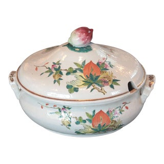Chinese Qing Dynasty Famille Rose Export Tureen