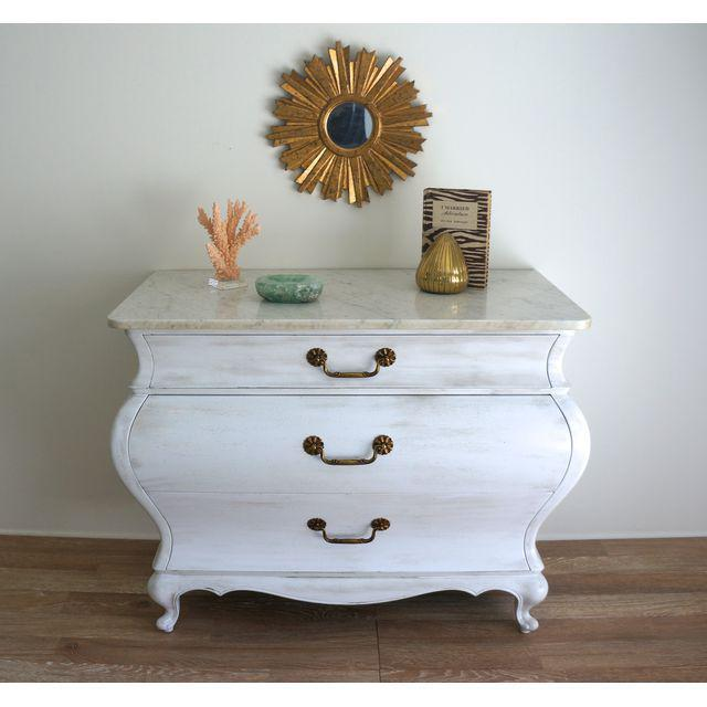 White Marble Top Commode by Grosfeld House - Image 2 of 9