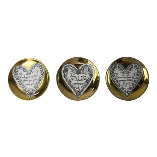 Fornesetti Milano Gold Coasters - Set of 3
