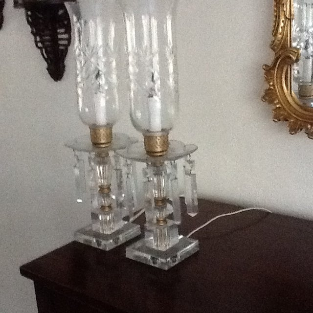 1960's Crystal Lamps - A Pair - Image 6 of 7