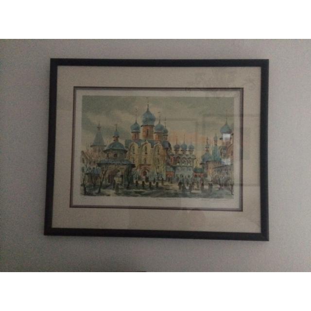 "Anatole Krasnyansky ""Rustov Kremlin"" Serigraph - Image 2 of 8"