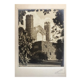 Silverprint Photograph of Gothic English Building w/Ivy 1929