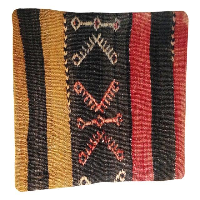 Vintage Turkish Kilim Pillow - Image 1 of 3