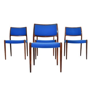 Danish Modern Niels Moller #80 Rosewood Dining Chairs - Set of 4