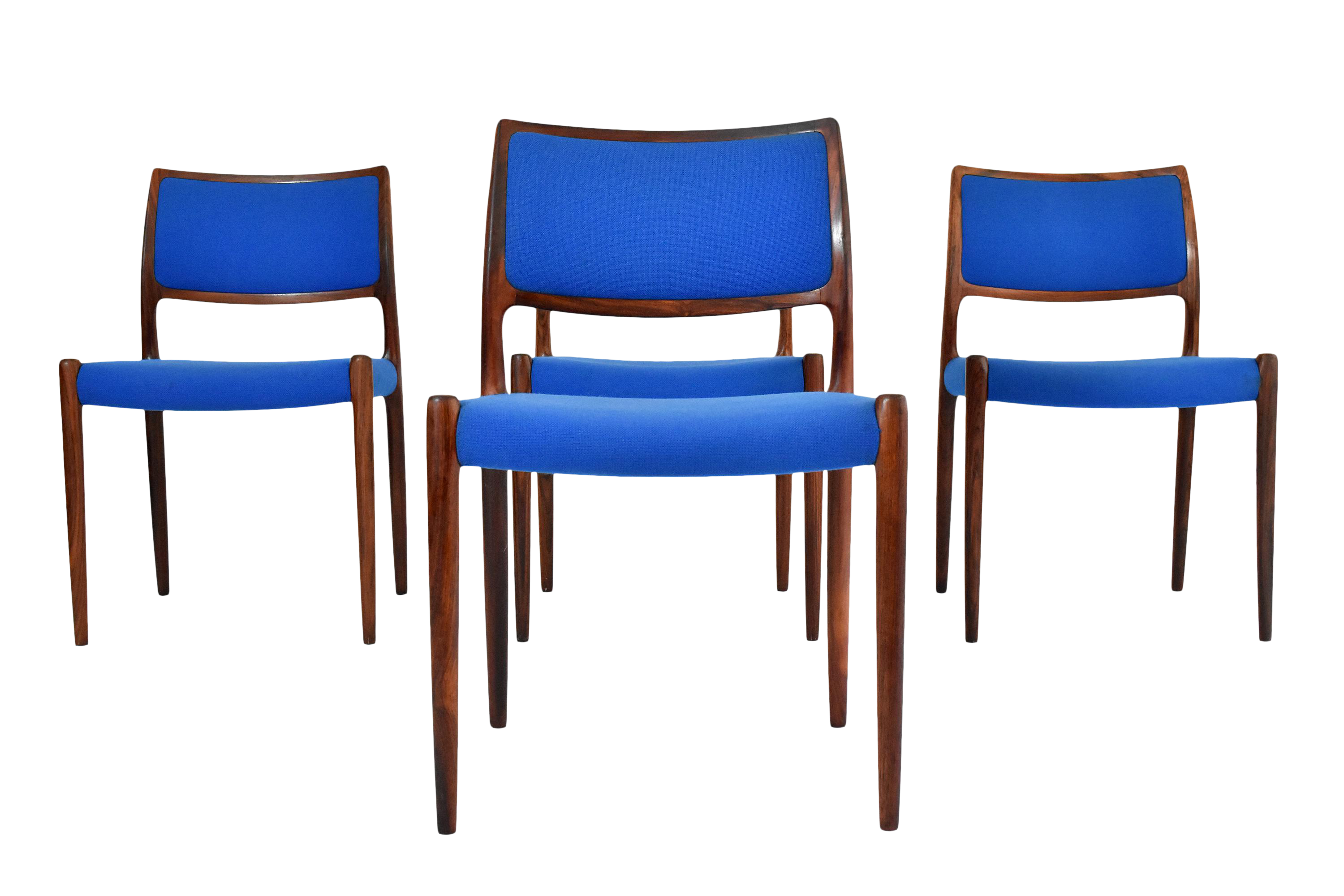 danish modern niels moller 80 rosewood dining chairs set of 4