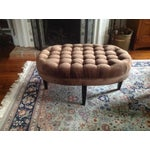 Image of Contemporary Tufted Oval Ottoman