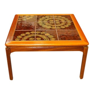 Teak & Tile Coffee Table C.1970