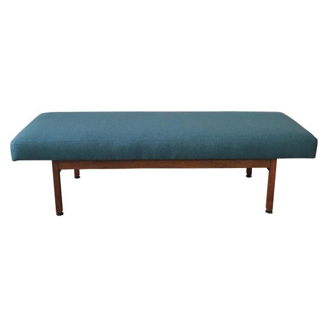 Danish Modern Walnut Upholstered Bench - Image 1 of 6