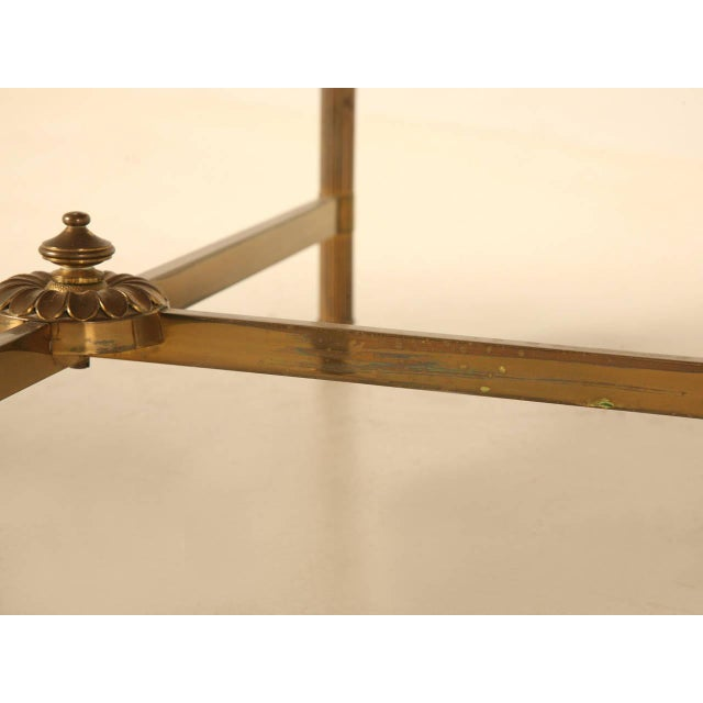 Vintage French Marble & Brass Cocktail Table - Image 6 of 10