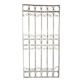 Antique Victorian Iron Gate Window Garden Fence Architectural Salvage Door #347