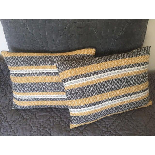 West Elm Silk Jacquard Hand-Woven Pillows - A Pair - Image 2 of 11