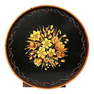 Vintage Hand Painted Decorative Toleware Tray