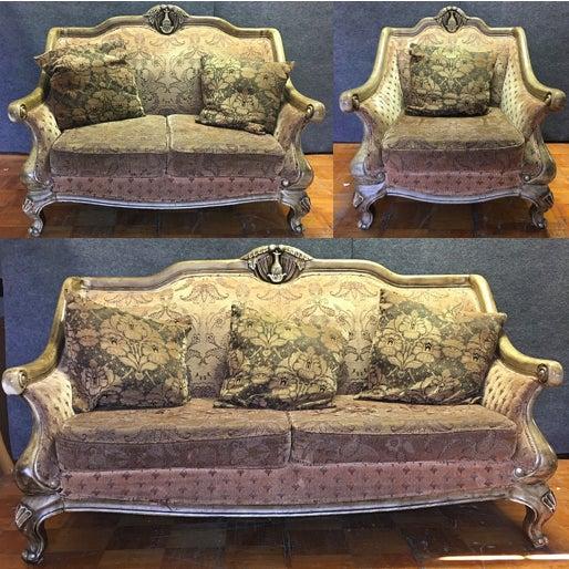 Carved Wooden Frame Sofa - Image 7 of 7