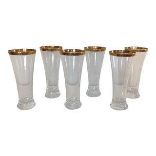Gold Rimmed Glasses - Set of 6
