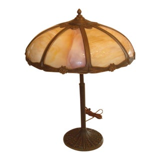 Miller Slag Panel Glass Table Lamp