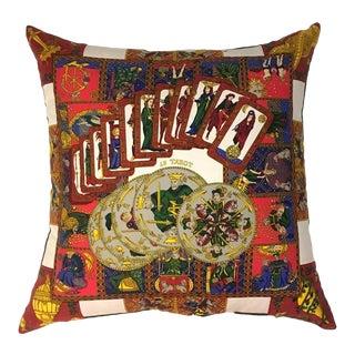Hermès 'Le Tarot' Silk Scarf Pillow