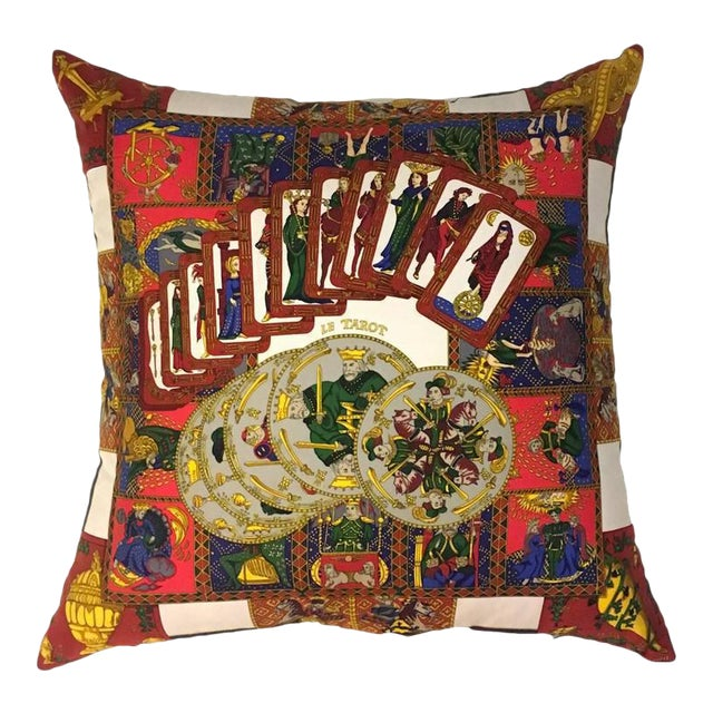 Hermès 'Le Tarot' Silk Scarf Pillow - Image 1 of 4