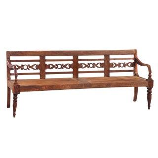 Antique Teak Carved Bench