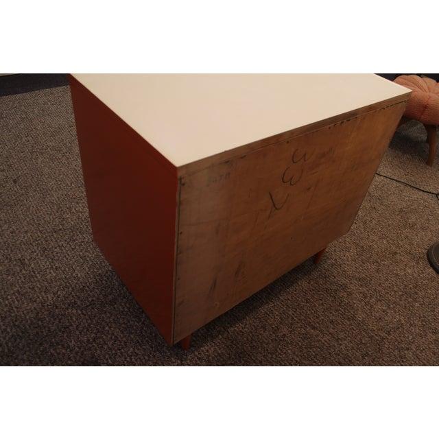 Atomic Orange Laminate Dresser - Image 5 of 11