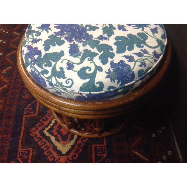 Vintage Bamboo Ottomans - A Pair - Image 7 of 7