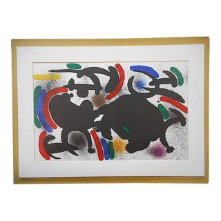 Large Vintage Ltd. Ed. Joan Miro Lithograph-Original Design
