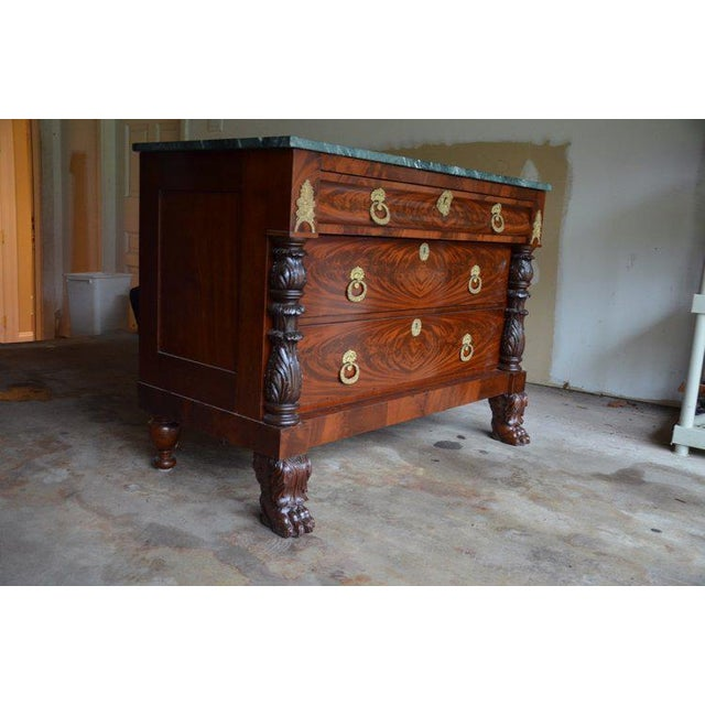 Antique French Style Claw Foot Marble Top Commode - Image 3 of 8