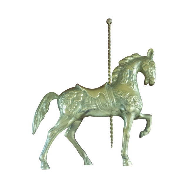 Brass Carousel Horse - Image 1 of 8