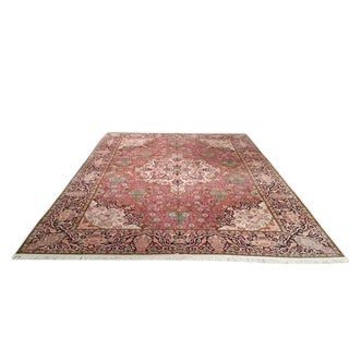Traditional Kashmir Knotted Rug - 10′ × 14′