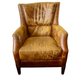 Distressed Leather Arm Chair