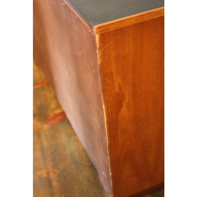 Diminutive Henredon Walnut and Slate Sideboard - Image 8 of 8
