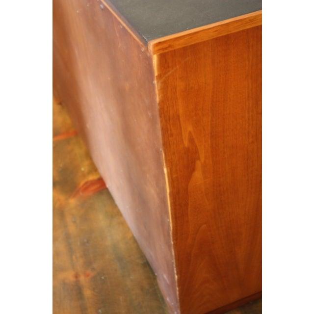 Image of Diminutive Henredon Walnut and Slate Sideboard