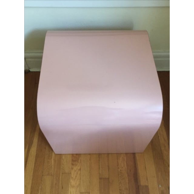 Vintage Pink Waterfall Side Table - Image 4 of 4