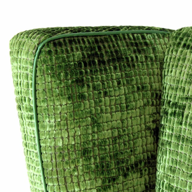 Upholstered Wingback Club Chairs - A Pair - Image 5 of 7