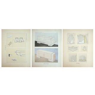 Vintage Paris Art Deco Design Sheets - Set of 3