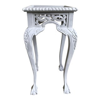 Antique White Plant Stand