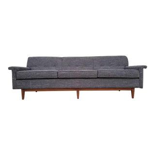 Mid-Century Gray Sofa