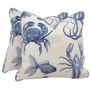 Sealife Throw Pillows - A Pair